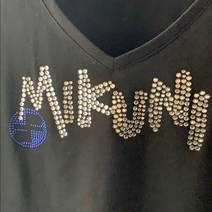 🍣 Mikuni Rhinestone and logo Black T-Shirt